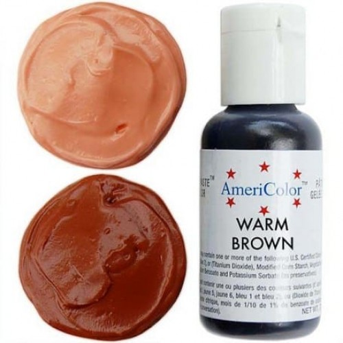 Гелевая краска AmeriColor Теплый коричневый, 21 гр