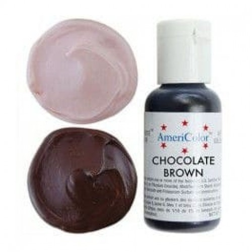 Гелевая краска AmeriColor Шоколадно коричневая, 21 гр
