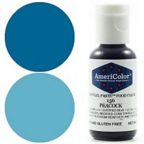 Гелевая краска AmeriColor Павлиний хвост, 21 гр