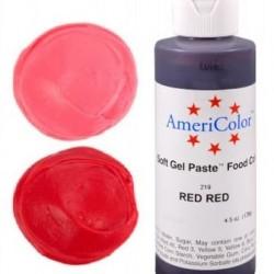 Гелевая краска AmeriColor Яркий красный, 128 г