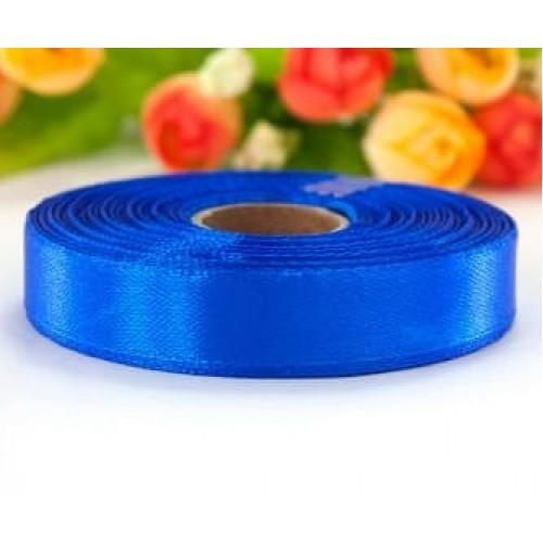 Лента атласная синяя (электрик) 1.2 см
