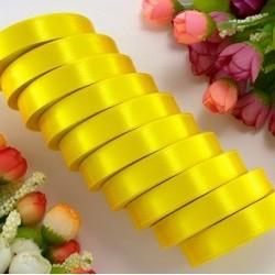 Лента атласная желтая 1.2 см