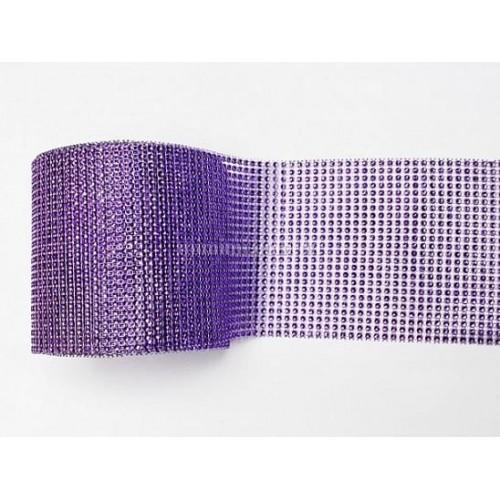 Лента с имитацией камней фиолетовая, 1 м