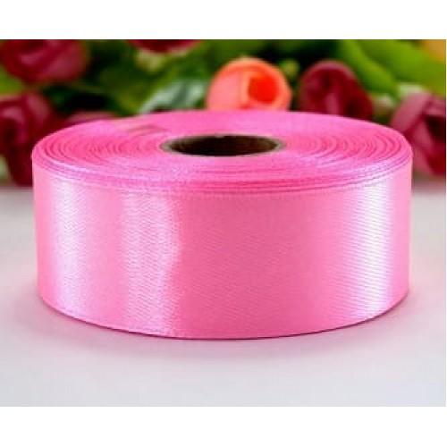 Лента атласная розовая 2,5 см