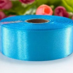 Лента атласная голубая 2,5 см