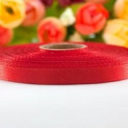 Лента атласная красная 0,6 см