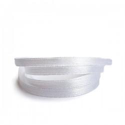 Лента атласная белая 0,6 см