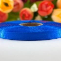 Лента атласная синяя 0,6 см