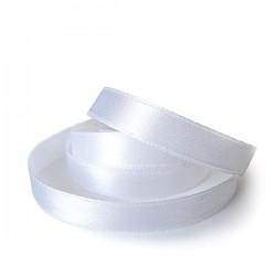 Лента атласная белая 1.2 см