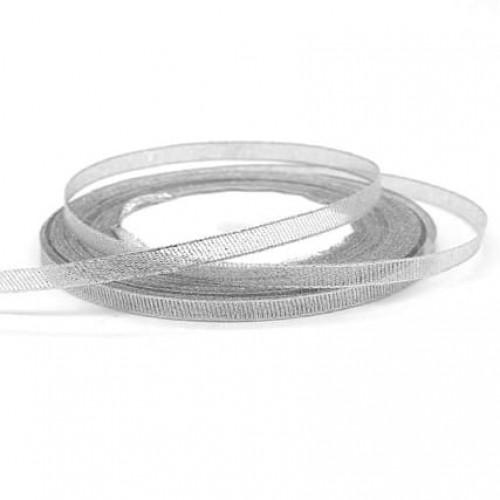 Лента парча Серебро 0,6 см