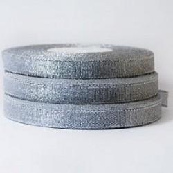 Лента парча Серебро 1,2 см