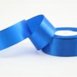 Лента атласная синяя (электрик) 2,5 см