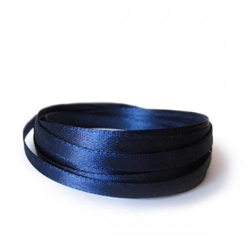 Лента атласная темно-синяя 1.2 см