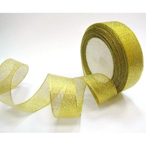 Лента парча Золото 2,5 см