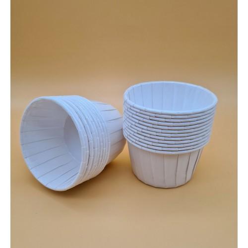 Бумажные формы белые с усиленным бортиком, 12 шт (5*4 см)
