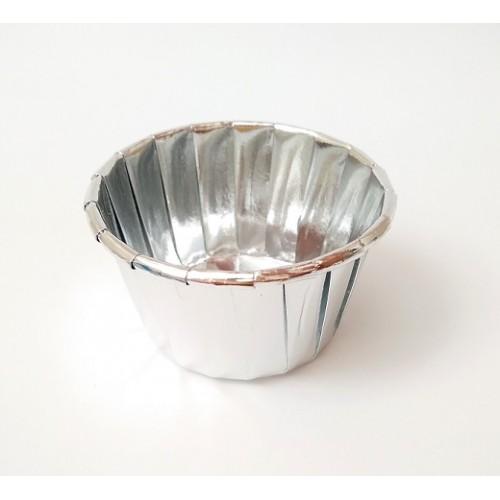 Бумажные формы серебряные с усиленным бортиком 6 шт (5х4см)