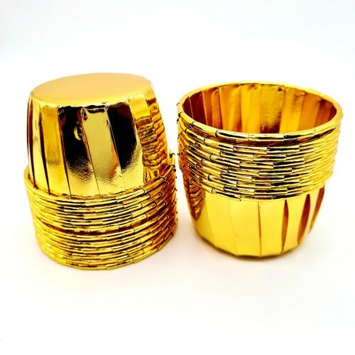 Бумажные формы золотые с усиленным бортиком 6 шт (5х4 см)