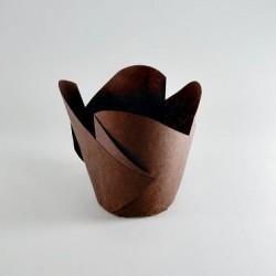 """Бумажные формы """"Фиалка"""" коричневые, 25 шт."""