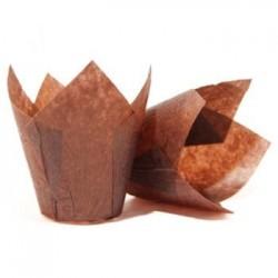 """Бумажные формы """"Тюльпан"""" коричневые, 25 шт."""