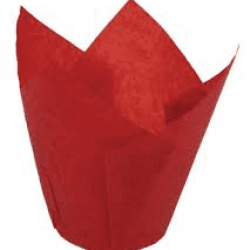 "Бумажные формы ""Тюльпан"" красные, 25 шт."