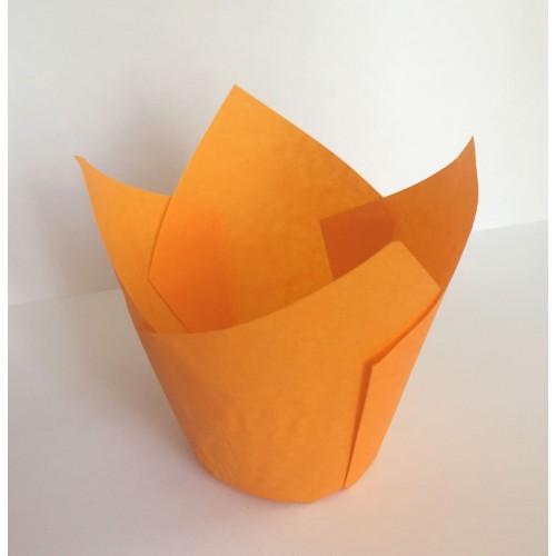 """Бумажные формы """"Тюльпан"""" оранжевые 25 шт."""
