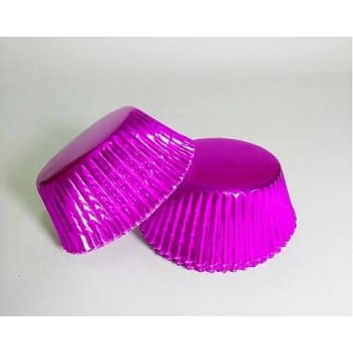 Бумажные формы малиновые в фольге, 25 шт. (5*3 см)