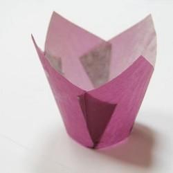 """Бумажные формы """"Тюльпан"""" фиолетовые 25 шт."""