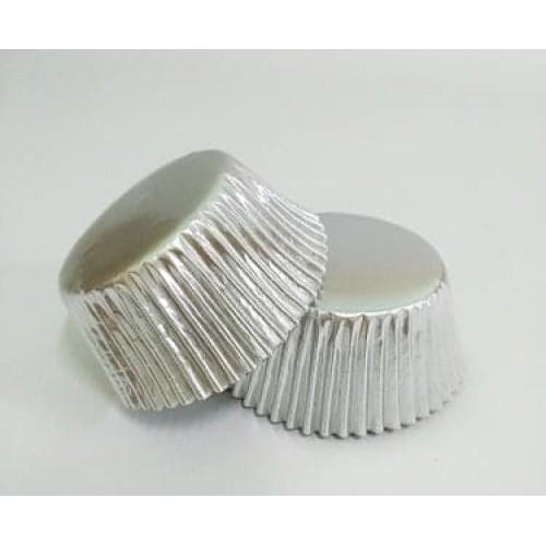 Бумажные формы серебряные в фольге, 25 шт. (5*3 см)