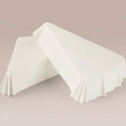 Бумажные формы белые треугольные, 50 шт.