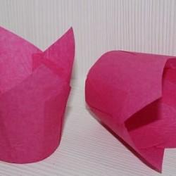 "Бумажные формы ""Тюльпан"" розовые 25 шт."