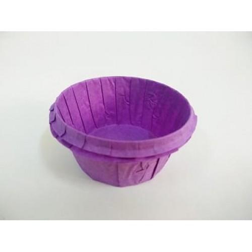 Бумажные формы фиолетовые с усиленным бортиком (5,5*3,5 см), 12 шт