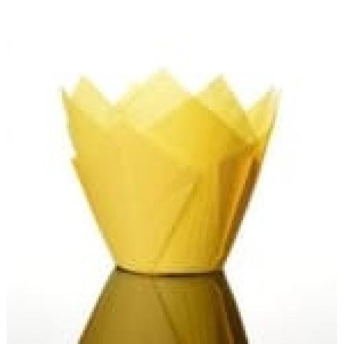 """Бумажные формы """"Тюльпан"""", жёлтые, 25 шт."""