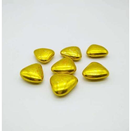 Сердца шоколадные золотые 50г (23 мм)