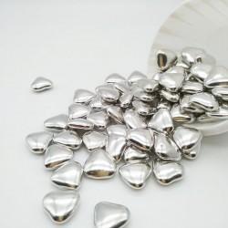 Сердечки шоколадные серебряные 50г