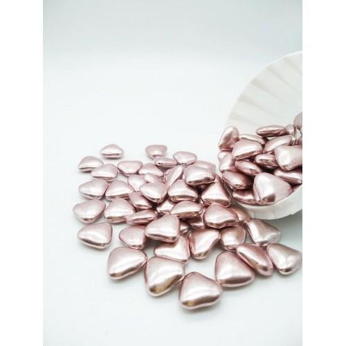 Сердечки шоколадные розовые 50г