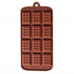 Форма силиконовая Мини плитка шоколада (12шт)