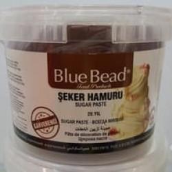 Сахарная мастика Blue Bead коричневая, 500 г (развес)