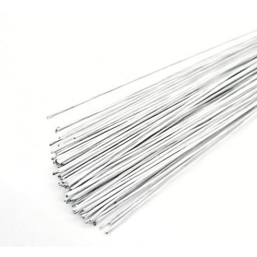 Проволока белая в бумаге 0,7мм 40 см (50 шт)