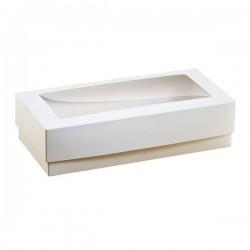 Коробка для пряников, эклеров 15*30*5 см с окошком