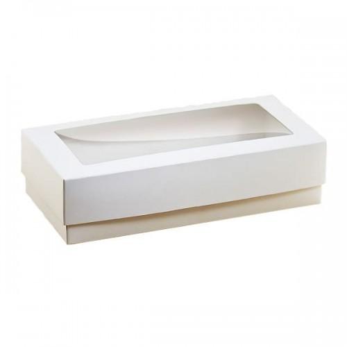 Коробка для пряников, эклеров 15*30*3 см с окошком