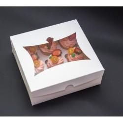 Коробка для 9 капкейков с окошком (картон)
