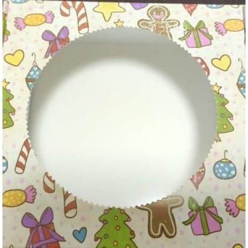 Коробка для пряников с окошком (новогодняя №2)