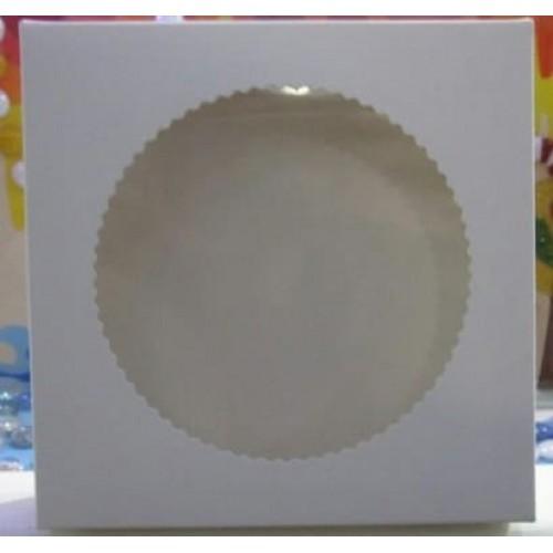 Коробка для пряников с окошком, 15*15*3,5 см (мин. 3 шт)