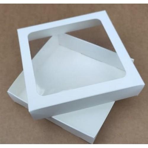Коробка для пряников с окошком 15*15*3 см (мин. 3 шт)