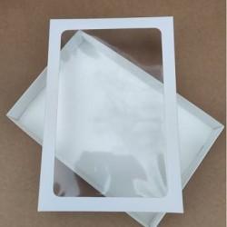 Коробка для пряников 20*30*3 см с квадратным окошком
