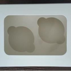 Коробка для 2 капкейков с окошком