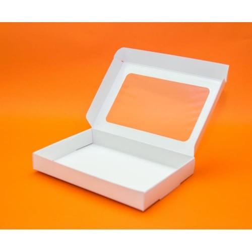 Коробка 22*15*3 см с окошком (мин. 3 шт)