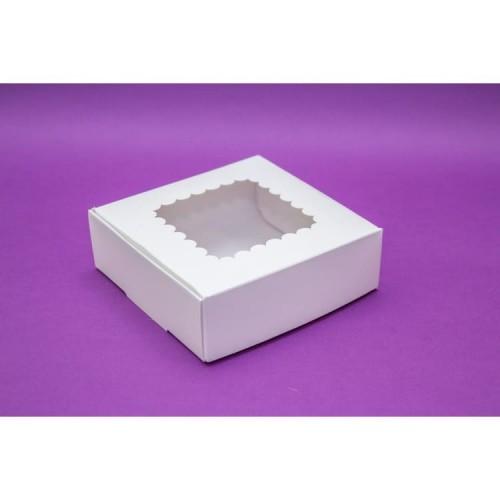 Коробка для пряников с окошком 15*15*5 см (мин. 3 шт)
