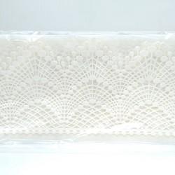 Кружево из гибкого айсинга белое (45011)