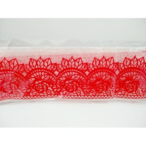Кружево из гибкого айсинга красное (45062)